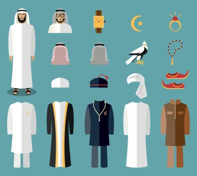 Arab man clothes and accessories