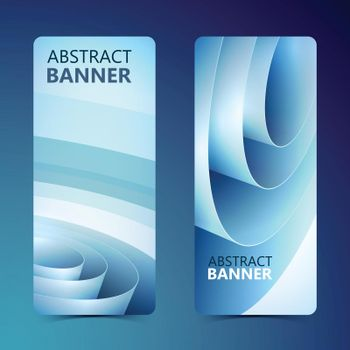 Abstract Clean Vertical Banners