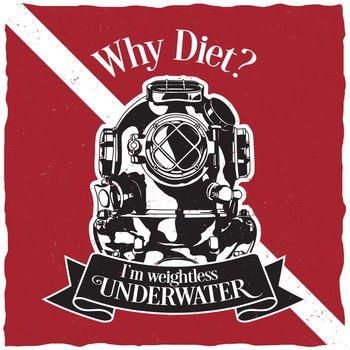 Underwater Motivation Label Design Poster