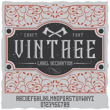 Vintage Label Decoration Poster
