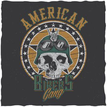 American Bikers Gang Poster