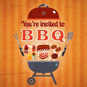 Barbecue invitation event advertisement poster