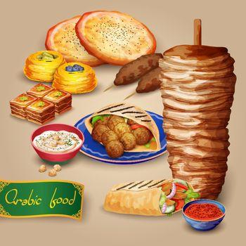 Arabic Food Set