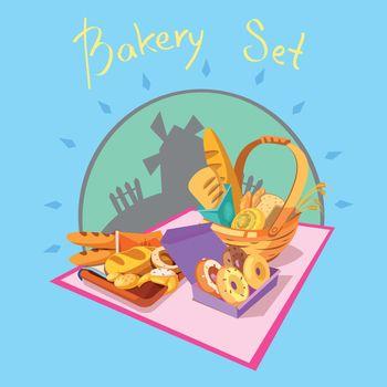 Bakery cartoon concept