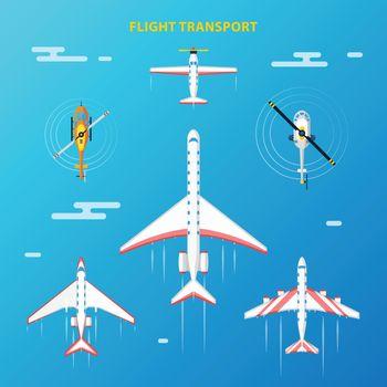 Air Transport Airport Elements Set