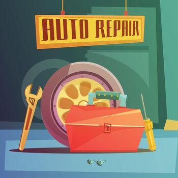 Auto Repair Illustration