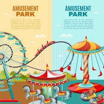 Amusement Park Vertical Banners