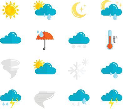 Weather Icons Flat Set