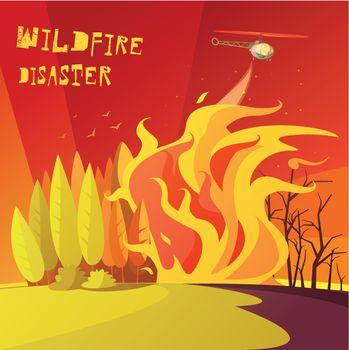 Wildfire Disaster Illustration