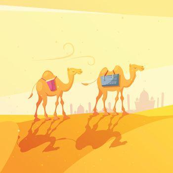 Ramadan Camel Illustration