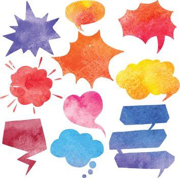 Watercolor Comics Bubble Set