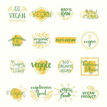 Vegan Retro Elements Set