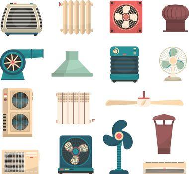 Ventilation Conditioning Heating System Set