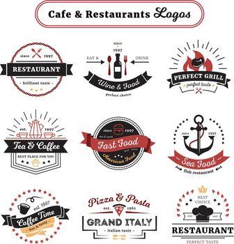 Cafe And Restaurant Logos Vintage Design