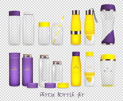 Water Flask Transparent Set