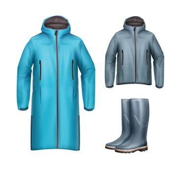 Jackets with rubber boots