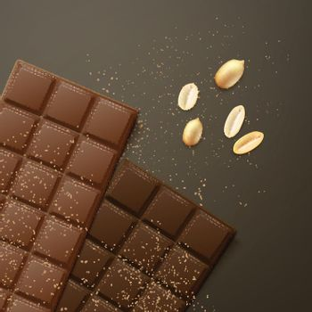 Different chocolate bars