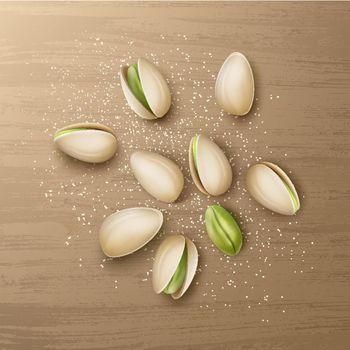 Handful of pistachio nuts