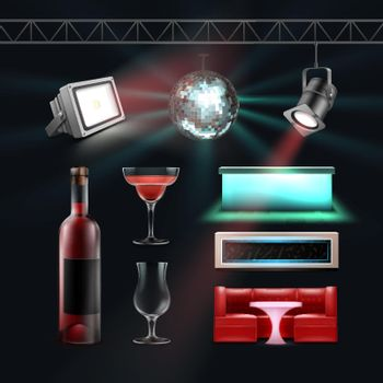 Night club set