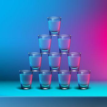 Pyramid of shots