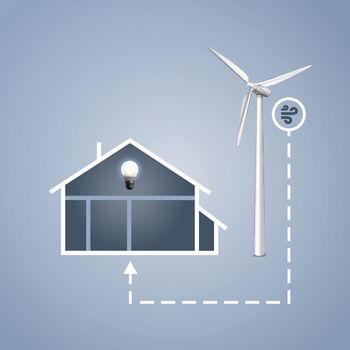 Infographics energy saving