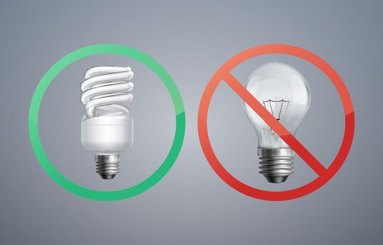 Fluorescence and incandescent bulbs
