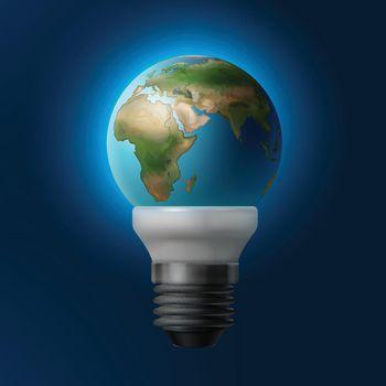 Planet inside lamp