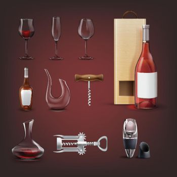 Vector wine collection