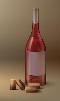 Vector wine bottle