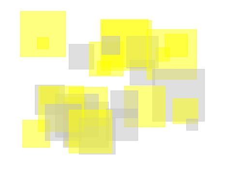 Abstract gray yellow squares with white background