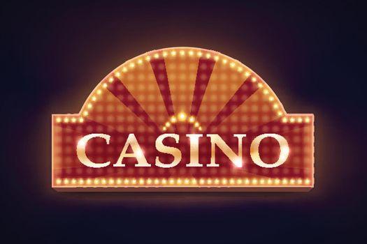 Illuminated casino signboard