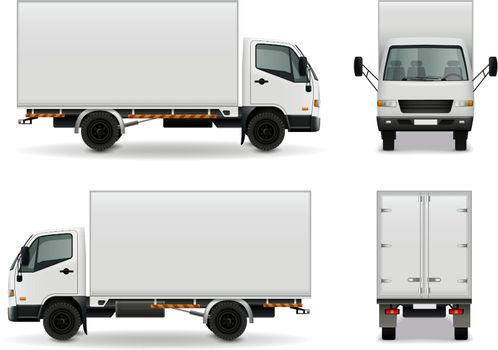 Lorry Realistic Advertising Mockup