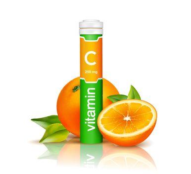 Vitamin C 3D Illustration
