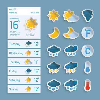Weather Paper Widgets Set
