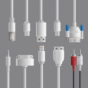 Cable Connectors Transparent Set