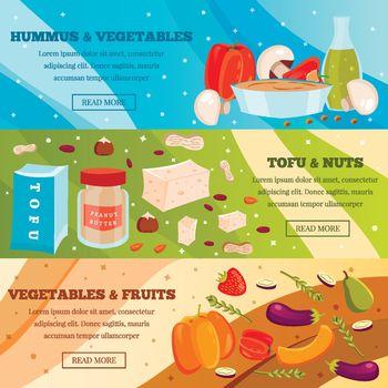 Vegetarian Food Flat Banners
