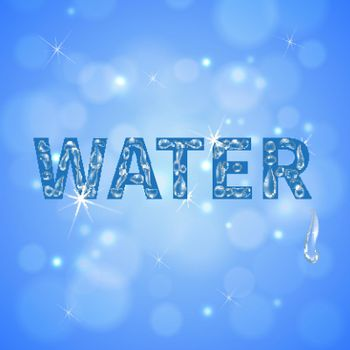 Water Drops Realistic Background