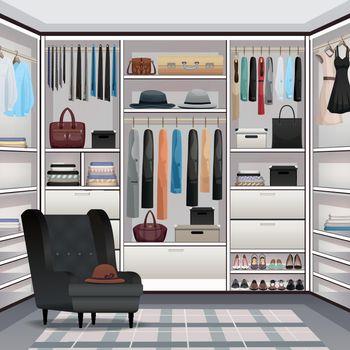 Wardrobe Cloakroom Interior Realistic