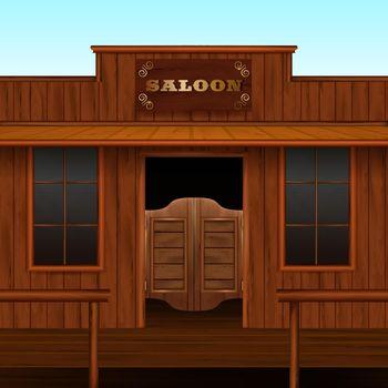 Western Saloon Entrance Composition