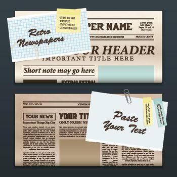 Vintage Newspaper Banners