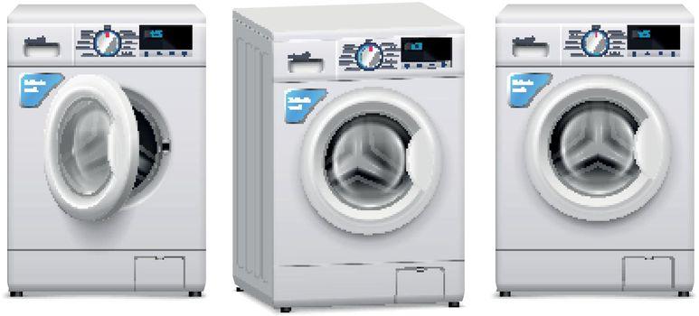 Washing Machine Realistic Set