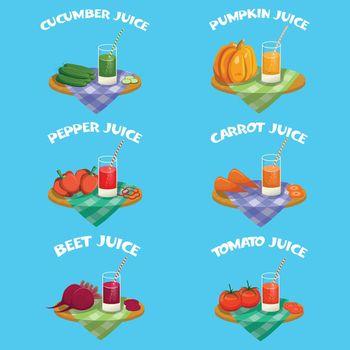 Vegetables Emblem Set
