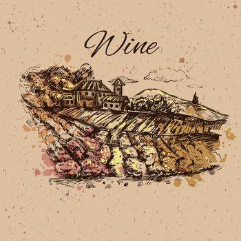 Vineyard Landscape Composition