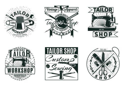 Vintage Tailor Workshop Labels Set
