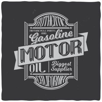 Vintage print for t-shirt or apparel. Retro artwork in black and white for fashion and printing. Old school vector with traditional theme and typography. Vintage noise are easily removable.