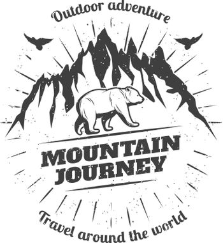 Vintage Mountain Travel Logo