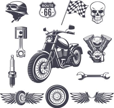 Vintage Motorcycle Elements Collection