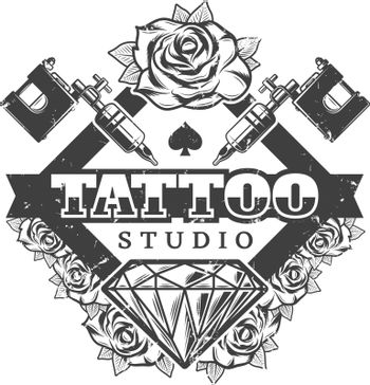 Vintage Tattoo Salon Logotype Template
