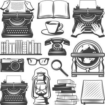 Vintage Writer Elements Set