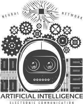 Vintage Artificial Intelligence Label Template
